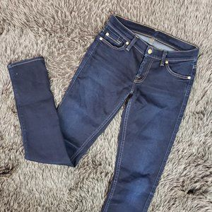 7 For All Mankind Roxanne Skinny Jeans Dark Wash